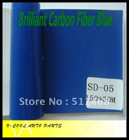 Brilliant  Blue 1.52X30M High Quality with Air free bubbles auto changing film carbon fiber vinyl,car fiber sticker
