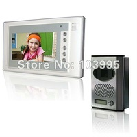 Free shipping 7-inch color  wired video door phone, can adjust camera angle