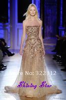 Gorgeous Zuhair Murad Dress Haute Couture 2013 A-line Handmade Beading Amazing Zuhair Murad Prom Dress Evening Gowns
