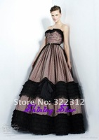 Vintage 2013 Zuhair Murad Dress 2 Colors Fashion Ball Gown Black Lace Strapless Floor Length Beautiful Prom Dress Evening Gown