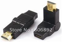 HDMI Extend Adapter Converter, 90 degree HDMI male to MINI HDMI female,5PCS/lot,HD 1080P free shipping & drop shipping