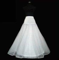 Free shipping 100%gurantee 1-HOOP 2-LAYER wedding bridal petticoat,underskirt,A-line Crinoline,chapel train,1hoop,adjustable
