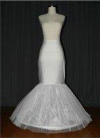 High Quality Wholesale Retail Instock Wedding Crinoline Tulle Bridal Underskirt Adjustable Underwear Mermaid Tulle  Petticoa