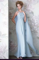 Free Shipping 2014 Hot Sale A-line Elegant Spaghetti Strap Evening Prom party Chiffon Evening /Prom Dresses