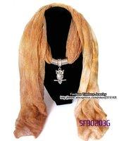 Free shipping 12pcs/pack+8 Colors !! Hotsale Fashion Women Scarf Jewelry, Owl pendant neckalce,Brand scarf,shawl wholesale