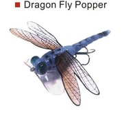 freeshipping lot of 3 pcs dragon fly popper 70,weight 6gm,length:7cm pop fishing lure