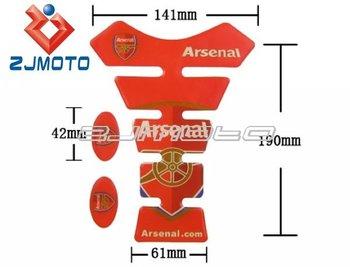 Arsenal Football Motorcycle Tank Pad For YAMAHA KAWASAKI SUZUKI HONDA BIKE FREE SHIPPING