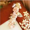Handmade Rhinestone Pink Rose HAIR CLIP Min.order is $15 (mix order) Free Shipping