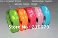 Hot! Novel Silica gel LED watch add usb flash drives 4GB 8GB 16GB 32GB memory stick Memory Card