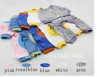 Fashion dog Clothing Pet pajamas Dog 4 Feet T-shirts Pajamas 4 Color 100% Cotton