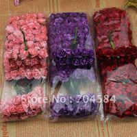 Free shipping 1.5cm mini wedding favor box decorative flowers excellent cute handmade flowers 3*144pcs/lot