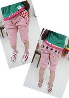 Kids Children summer Wear Heigth 90~130 Children's clothing  Boys Girls Grid Jeans Trousers Pants