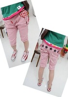 Kids Children summer Wear Heigth 90~130 Children's clothing  Boys Girls Grid Jeans Trousers Pants