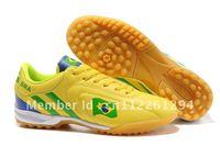free shipping cheap  men brazil team  soccer shoes,moq 1 pair,euro size 38,39,40,41,42,43,44