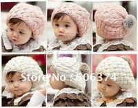 Free shipping Hot Selling 10 Pieces/Lot New Fashion Design kids beret hat Baby Hat Santa/christmas/x'mas Baby Hats KH0019