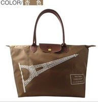 free shipping~2014 new fashion brand  canvas shoulder bag Eiffel Tower handbag size L