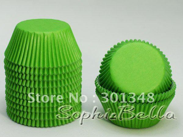 1000 stuks plain lente groene huis partij cupcake liners papieren ...