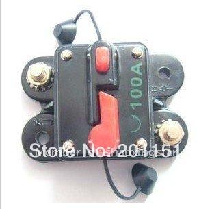 12v carro estéreo de áudio 100 ampères disjuntor fuse de 10 pcs transporte livre(China (Mainland))