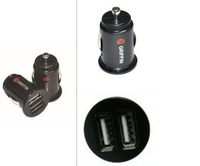 Mini Bullet Dual USB 2-Port Car Charger Adaptor for iPhone 4 4g iPod Touch