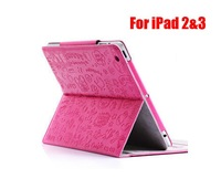 50pcs/lot ,little evil case for iPad 2 & for the new iPad 3, with 3 different views,  Free Shipping