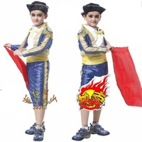 Free shipping--Child Halloween Costume /Party Costume/Christmas clothing / cosplay/ masquerade costume /Spanish Matador suit