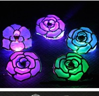 100piece festival products Christmas Glow Stick,Cheering Light Stick,flowers Stick For Party  led rose hair clip