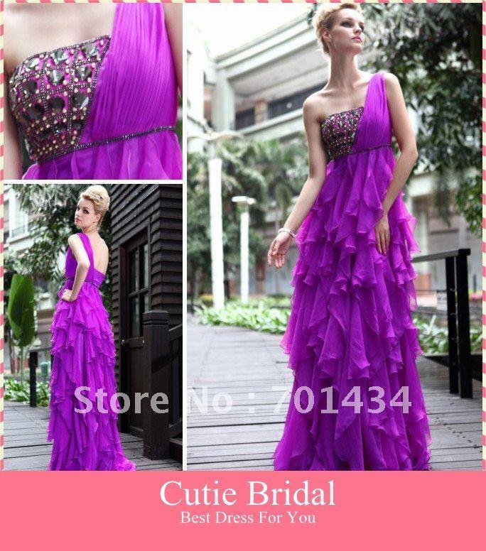 فساتين باللون الليلكي-اجمل الفساتين واروعها XQ235-Free-shipping-
