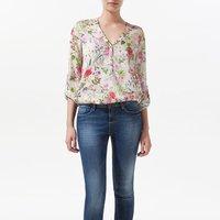 hot sale 2014 new arrivel long sleeve v neck chiffon blouses women shirts