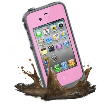 Pink Waterproof Shockproof PC Case Life Dirt Proof Cover Fits Apple iPhone 4 4S