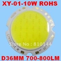 600pcs/lot DHL FREE 10W LED Module , COB technology, Hualei Chip ,Round D36mm Light source,XY-01-10W.
