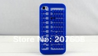 Soft silicone Abacus case For 4 4g 4S Archaize gel cover cases package 150pcs/lot