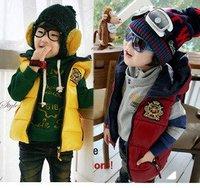 Baby boys vest kids children sleeveless Badge Vest girls Outwear 0904 B zj