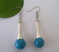 Fashion Tibetan Jewelry Turquoise Pendant Drop Lady Earring, Tibetan Earring Eardrop/12MM