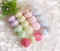 Macarons hamburger Cabochons Mixed 8 Colors for DIY Phone Decoration