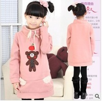 Female kid sweatshirt outerwear bear sweatshirt single tier fleece mb-0325 freeshpping