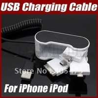 4-in-1 Multifuntional USB Charging Cable For iPhone iPod Nokia Sony Ericsson Samsung  mobile phone