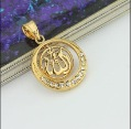 wholesale and retail 24K Gold Plated Allah Pendant Necklace, Free Shipping and men women Necklace with free chain gift #PE100584(China (Mainland))