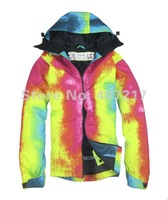 Free shipping 2012 mens GRENADE snowboarding jacket snow suit light skiing jacket men's ski suit skiwear anorak red and yellow