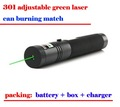 factory supply 301 single point 200MW Green laser pointer Pen with 500nm can burning the match freeshipping