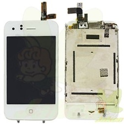White LCD Screen Display Replacement with touch digitizer assembly for Iphone 3GS(China (Mainland))