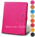 New arrival! Luxury Style Cover Skin Leather Case for the new ipad 2/ iPad 3, 7 colors available Free Shipping