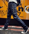 Hot sale men's Jeans male trousers single breasted fashion design harem pants skinny jeans Free shipping 2000
