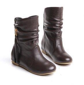 Короткий boots high heel shoes ankle winter Модный sexy warm Длинный Женщины snow ...