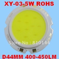 24pcs/lot 5W LED Module , COB technology, Hualei Chip ,Round D44mm Light source,XY-03-5W.