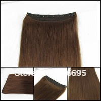 4# Chocolate Brown One Piece Clip In Human Hair Extensions 16/20/24inch 5 clips 100g/piece Accept Custom Order Free Shipping