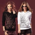 2012 women's cotton loose casual  long-sleeve T-shirt free shipping size:L-XL