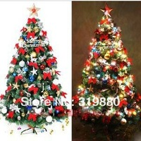 Wholesale Deluxe encryption type 180cm bow decorative gift packages Christmas tree 176 high-grade pendant 7kg