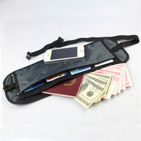New arrival invisible internality waist pack testificate anti-theft waist pack passport bag elastic small waist pack