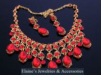 MIN.ORDER $15,shining rhinestone jewelry set for bride,waterdrop shape