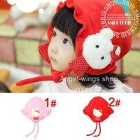 Free Shipping New 100%Villi princess girls cap children baby Winter Hat Kids Earflap hats 1-4 Years Old,10 pcs/lot